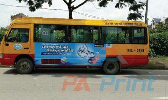 In và dán decal xe bus