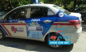Dự án QC AQua trên 500 xe taxi G7 tại Hà Nội