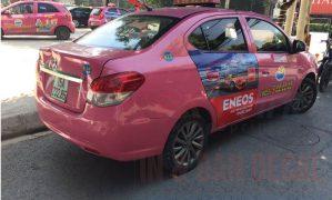 Dự án dán 100 xe taxi quảng cáo dầu nhờn Enos tại Hải Phòng