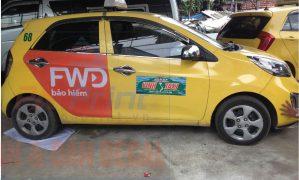 Dự án dán quảng cáo bảo hiểm FWD trên 100 xe taxi Vinh tại Nghệ An